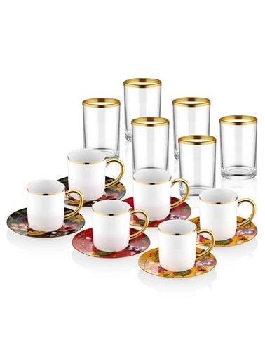 The Mia Dilaila Kahve & Kahve Yanısu Bardağı - 6 Kişilik Renkli